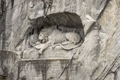 The Lion monument, or Lion of Lucerne in Lucerne Switzerland. Stock Photo
