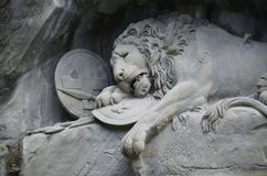 The Lion monument, or Lion of Lucerne in Lucerne Switzerland. Stock Photography