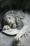 The Lion monument, or Lion of Lucerne in Lucerne Switzerland. Royalty Free Stock Photography