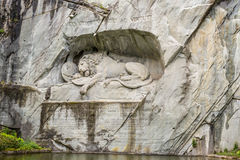 The Lion monument, or Lion of Lucerne in Lucerne, Switzerland Royalty Free Stock Photo
