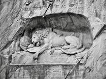 Lion Monument in Lucern, Zwitserland stock foto
