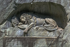 Lion Monument Lucerne Royaltyfria Bilder