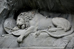 Lion Monument Lucerne Switzerland Fotos de Stock