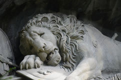 Lion Monument in Lucerne, Switzerland Stock Images