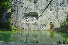 The Lion monument in Lucerne. Royalty Free Stock Photo