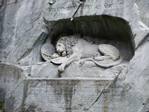 The Lion monument in Lucerne royalty free stock images