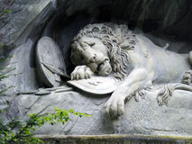 The Lion monument of Lucerne, Switzerland Royalty Free Stock Photos