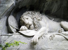 Lion monument at Lucerne Switzerland Royalty Free Stock Images