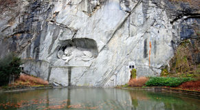 Lion Monument  (Luzern, Switzerland) Royalty Free Stock Image