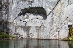 Lion Monument in Luzerne Stock Foto