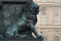 Lion on the Monument of Maximilian Joseph Stock Photos