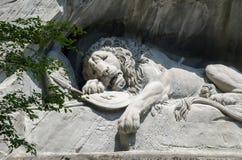 Lion Monument ou o leão da lucerna, na lucerna, Switzerlan Foto de Stock Royalty Free