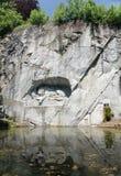 Lion Monument ou o leão da lucerna, na lucerna, Switzerlan Fotografia de Stock Royalty Free