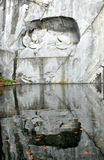 Lion monument switzerland Royalty Free Stock Photo