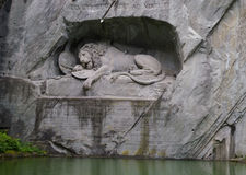 Lion monument in switzerland Stock Image