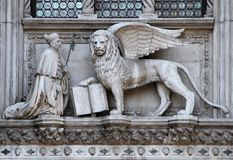 Lion monument in Venice Royalty Free Stock Photo