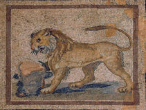 Lion mosaic Royalty Free Stock Images