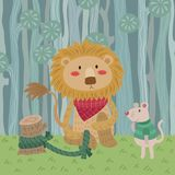 The Lion and the Mouse royalty free illustration