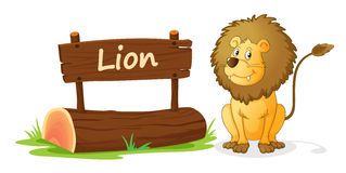 Lion and name plate Stock Image