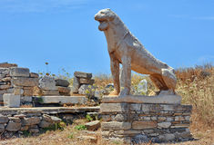 Lion Of Naxians Delos Royalty Free Stock Images