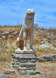 Lion Of Naxians Delos Stock Photo