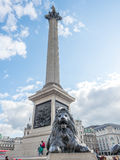 Lion and Nelson column in London Stock Photography