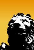 Lion noir et blanc. Vecteur Photographie stock libre de droits