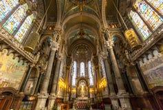 Lion Notre-Dame De Fourviere kościół fotografia stock