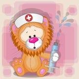 Lion nurse Royalty Free Stock Photo