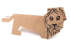 Lion origami Stock Image
