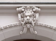 The lion ornament street gate. Royalty Free Stock Images