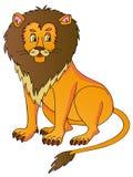 Lion på vitbakgrund Fotografering för Bildbyråer