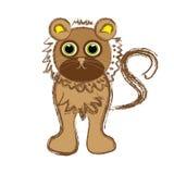 Lion på vitbakgrund Vektor Illustrationer