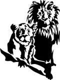 Lion Pair ilustração do vetor
