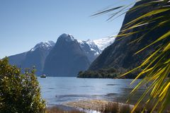 The Lion & The Palisades. The Lion (right) and The Palisades (left), Milford Sound, Fiordland National Park, Fiordland, South Island, New Zealand royalty free stock photos