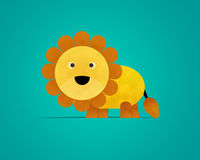 Lion Paper Clipart Lizenzfreie Stockfotos