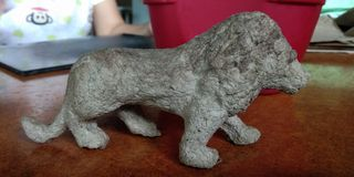 Lion paper mache royalty free stock photography