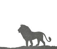 Lion papercut Royalty Free Stock Photos