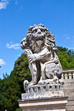 Lion in park of nymphenburg castle, Royalty Free Stock Image