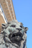 Lion at parliament, madrid Stock Image