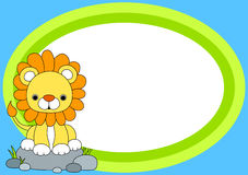 Lion Party Invitation Card Immagine Stock