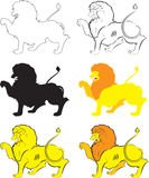 Lion Passant araldico Fotografia Stock