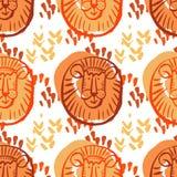 Lion pattern3 Royalty Free Stock Image