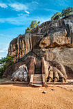 Lion paws pathway on Sigiriya rock, Sri Lanka. Famous Sri Lankan tourist landmark - lion's paws pathway on Sigiriya rock, Sri Lanka Royalty Free Stock Photography