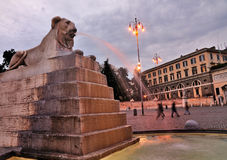 Lion on Piazza del Popolo, Rome Royalty Free Stock Image