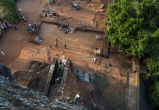 The Lion Platform on Sigiriya Rock in Sri Lanka. Royalty Free Stock Image