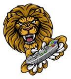 Lion Player Gamer Mascot Fotografia de Stock