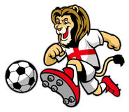 Lion playing soccer Royalty Free Stock Image