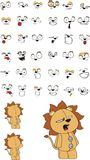 Lion plush cartoon. In format vector illustration
