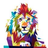 Lion polychrome illustration libre de droits